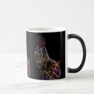 Neon Glow Dhol Drummer morphing mug