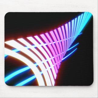 Neon glow leaf design mouse mat