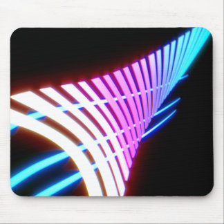 Neon glow leaf design mouse pad