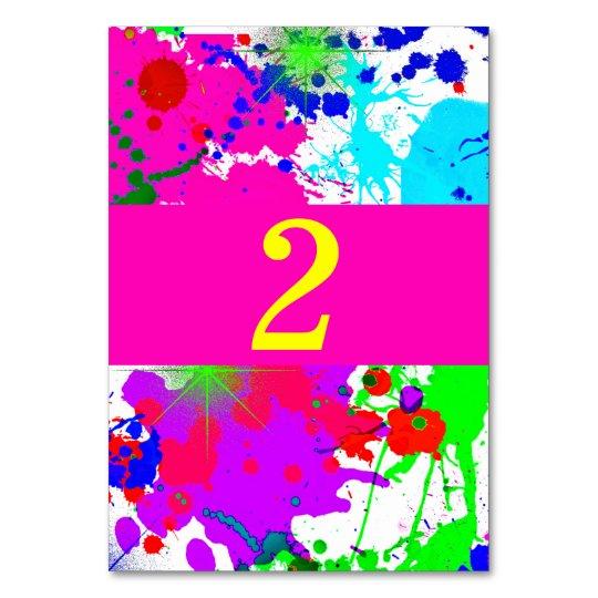d05a643ece Neon glow paint splatter custom table number jpg 540x540 Splatter neon
