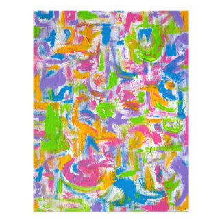 Neon Graffiti - Abstract Art Brushstrokes 21.5 Cm X 28 Cm Flyer