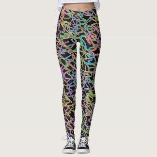 Neon Graffiti Leggings