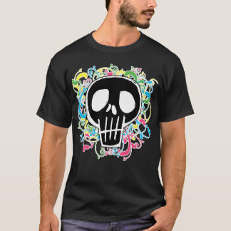 Neon Graffiti Skull T-Shirt
