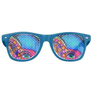 Neon Grafitti Retro Sunglasses