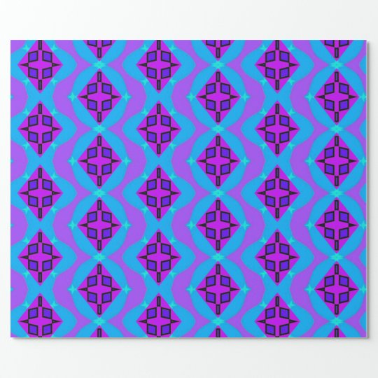 Neon graphic wrapping paper