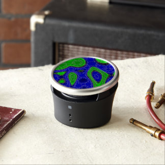 Neon Green Abstract Bluetooth Speaker