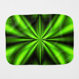 Neon Green Abstract Fractal Burp Cloth