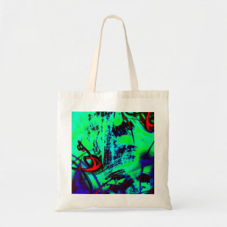 Neon green abstract tote bag