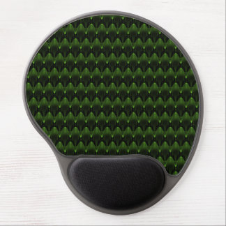 Neon Green Alien Head Design Gel Mouse Mat