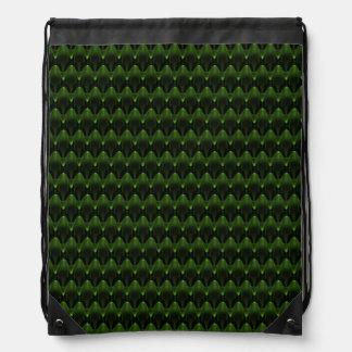 Neon Green Alien Head Design Backpacks