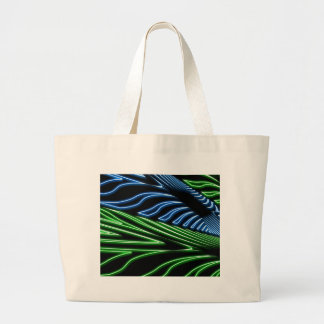 Neon green and blue jumbo tote bag