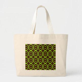Neon Green and Brown Modern Trellis Pattern Bag