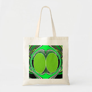 Neon green and gray superfly canvas bag