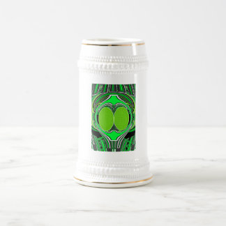 Neon green and gray superfly beer steins