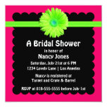 Neon Green and Pink Bridal Shower Invitation 13 Cm X 13 Cm Square Invitation Card