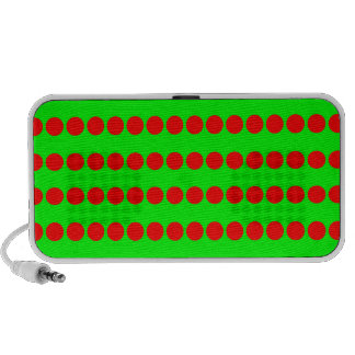Neon Green and Red Polkadotted Pattern Notebook Speaker