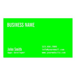 Neon Green Apps developer Business Card