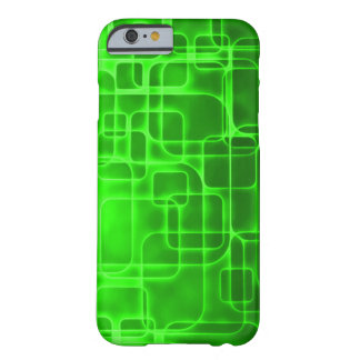Neon Green Atomic Energy Abstract Art Barely There iPhone 6 Case