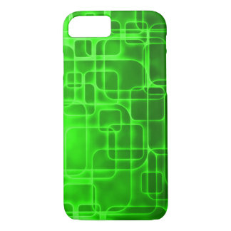 Neon Green Atomic Energy Abstract Art iPhone 7 Case