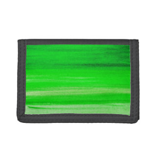 Neon Green Backdrop Watercolor Abstract Background Trifold Wallet