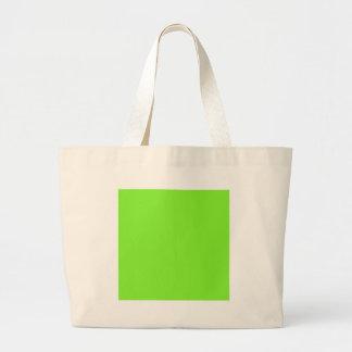 Neon Green Canvas Bag
