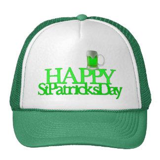 Neon Green Beer Blurred Happy St. Patrick's Day Cap
