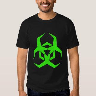 Neon Green Biohazard Symbol T-shirt