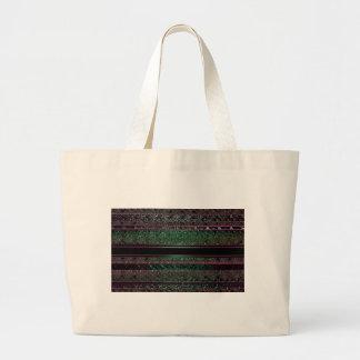 Neon Green & Black Stripes Tote Bags