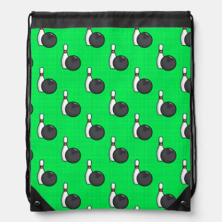 Neon Green Bowling Ball Pattern Rucksacks