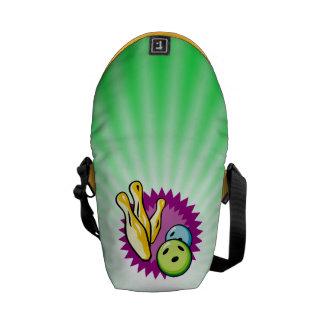 Neon Green Bowling Messenger Bags