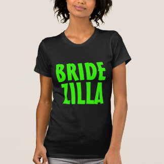 Neon green Bridezilla t shirt for bride to be