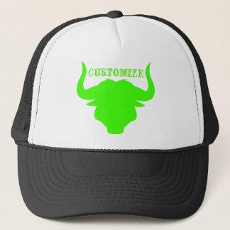 Neon Green Bull Trucker Hat