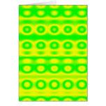Neon Green Circle Abstract Greeting Card