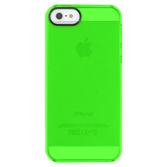 Neon Green Clear iPhone SE/5/5s Case
