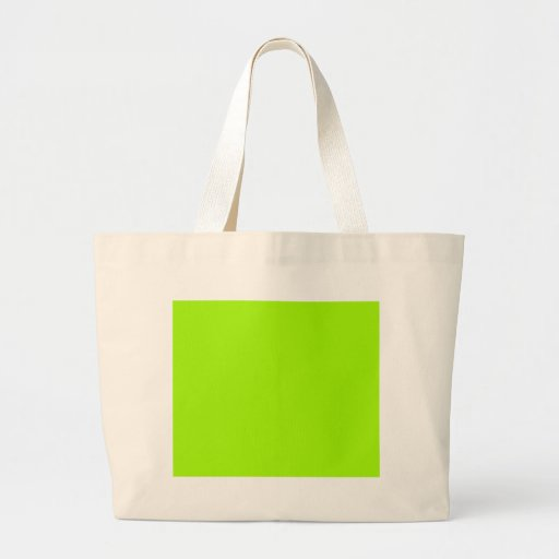 Neon Green Color Only Custom Products Tote Bag