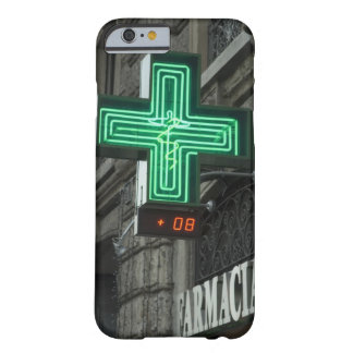 Neon Green cross outside Farmacia (Drug store or Barely There iPhone 6 Case