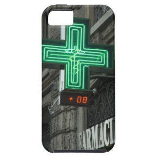 Neon Green cross outside Farmacia (Drug store or iPhone 5 Covers