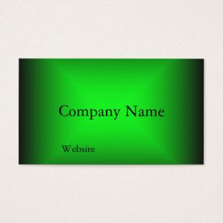 Neon Green Design Business Card