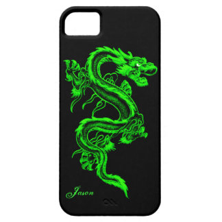Neon Green Dragon Custom iPhone 5 Case