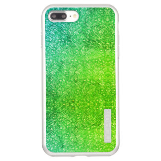 Neon Green Floral Bright Colorful Vitality Incipio DualPro Shine iPhone 8 Plus/7 Plus Case