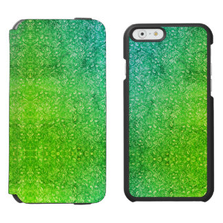Neon Green Floral Bright Colorful Vitality Incipio Watson™ iPhone 6 Wallet Case