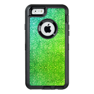 Neon Green Floral Bright Colourful Vitality OtterBox Defender iPhone Case