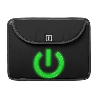 Neon Green Flourescent Power Button MacBook Pro Sleeve