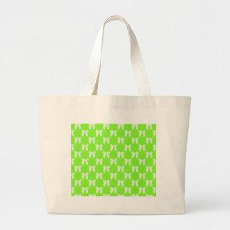 Neon Green Flower Girl Kids Wedding Gift Canvas Bags
