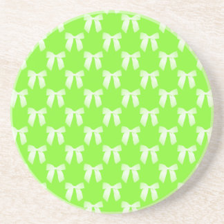 Neon Green Flower Girl Kids Wedding Gift Coasters