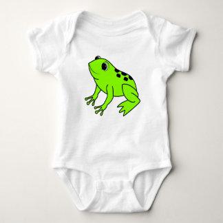 Neon Green Frog Baby Bodysuit