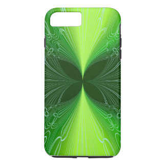 Neon Green Futuristic Cyber Abstract Lasers iPhone 7 Plus Case
