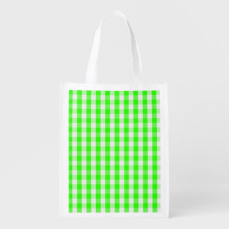 Neon Green Gingham Pattern