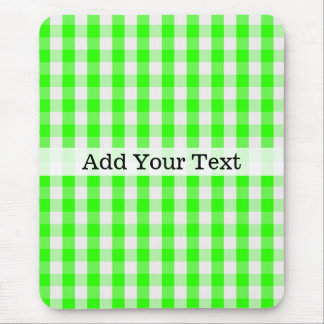 Neon Green Gingham Pattern by Shirley Taylor Mouse Mat