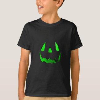 Neon Green Glow Jack O'Lantern Face T-Shirt